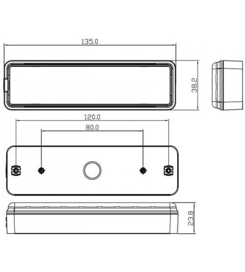 Combinatie verlichting 12/24V (135RME) 135RME