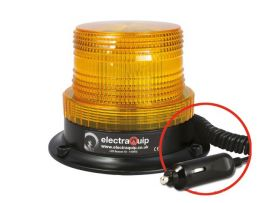 LED Flits/zwaailamp Amber met magneetvoet 10 - 110V 130ABBM