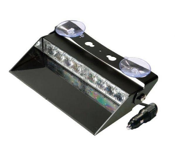 LED Dashboard Flitser 8 LED's Amber 10-30V LED8DDVA
