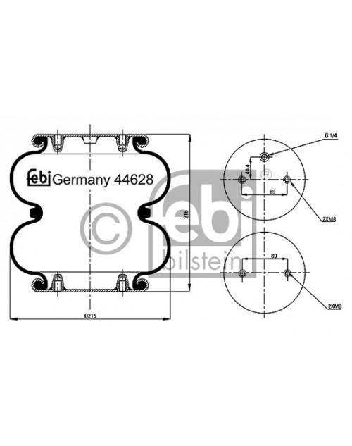Luchtveerbalg 44628 Mercedes Benz Achsen