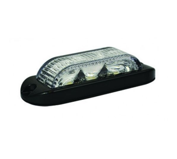 LED Flitser 3 LED's Wit 180° 10-30V LED3DVW180