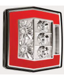 LED Achterlicht L/R 4-functies; achter/rem/knipper/kentekenverlichting Blank/Blank Kabel V10C4-730