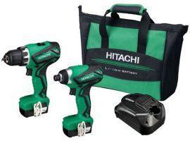 Hitachi accuboormachine combo set in tas KC10DMLWB