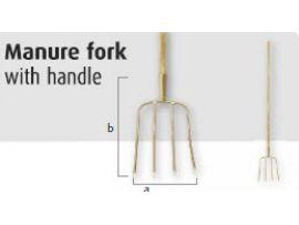 Vonkvrije Hooivork 4-tands, met steel 1600 mm 1511600S